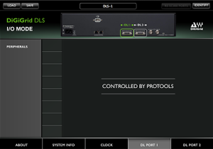 DiGiGrid DLS Control Panel in I/O Mode – DigiLink Port 1 Settings