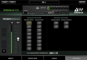 DiGiGrid IOS Control Panel – Controls