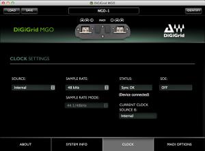 DiGiGrid MGO Control Panel – Clock Settings